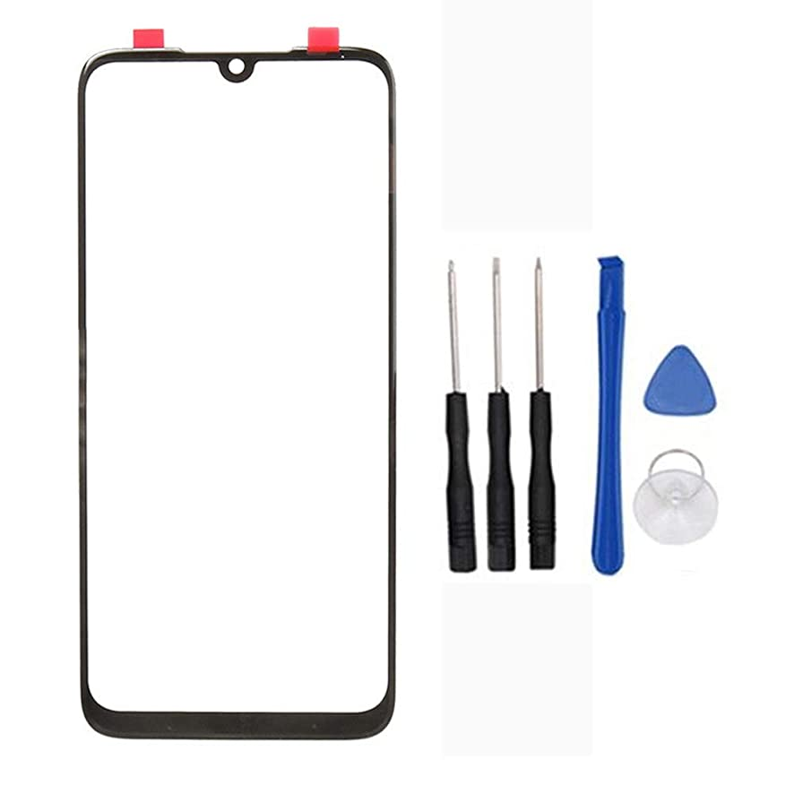 Outer Glass Lens Front Screen Cover Replacement for Xiaomi Redmi Note 7/ Redmi Note 7 Pro (Not LCD and Not Digitizer) Black