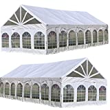 Delta 40'x20' PVC Marquee - Fire Retardant Heavy Duty Large Party Wedding Canopy Tent Gazebo Shelter w Storage Bags Canopies