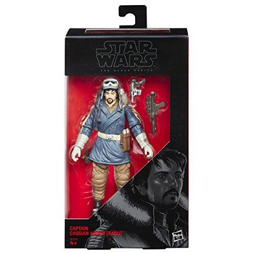 Hasbro Star Wars B9395EL20 Rogue One The Black Series 6 Zoll Figur: Captain Cassian Andor, Actionfigur