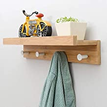 Nordic Style Creative Partition Shelf Wall Hanging Solid Wood Hook Shelf Set-top Decor Wall Shelves Coat Hooks DIY Home De...