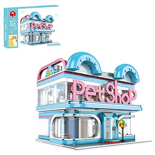 Gedar Creator Bloques de construcción de Hospital, Casas de médicos para niños, Hospital de la Ciudad, Creator Expert Pet Shop,1082 Piezas Compatible con Lego