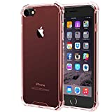 Compatible with iPhone 7 Case, iPhone 8 Case,SE 2020, iEugen Crystal Clear Shock Absorption Technology Bumper Soft TPU Cover Case for iPhone 7 /iPhone 8 (2017) - (Rosegold)