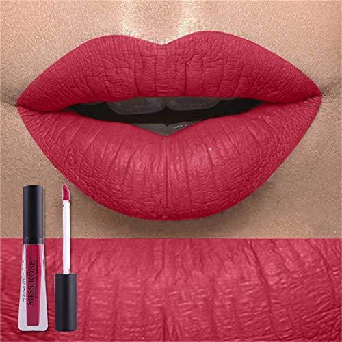 Saws Niebla Matte Lipsticks Impermeable Herramientas De Maquillaje De Labios Duraderas A Prueba De Agua Tubo Transparente Matt Black Cover 03# 0322