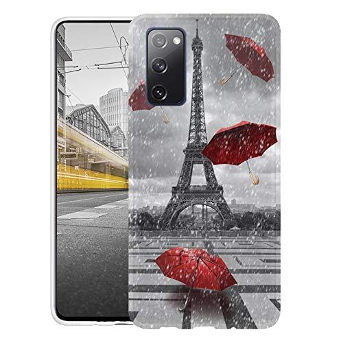 KX-Mobile Hülle für Samsung S20 FE Handyhülle Motiv 1107 Eifelturm Paris Frankreich Premium Silikonhülle SchutzHülle Softcase HandyCover Handyhülle für Samsung Galaxy S20 FE Hülle
