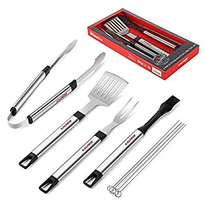 KALREDE BBQ Tools Grilling Tools Set with Case- Heavy Duty Barbecue Tools BBQ Tool Set of 8- Stainless Steel Grill Tools Set for Men or Outdoor Grill Gas Grill-BBQ Accessories