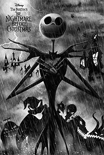 Grupo Erik GPE5352 Erik-Poster Disney Nightmare Before Christmas Jack Skellington, Oscuros, 61 x 91,5 cm
