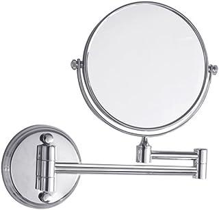 ZYLE مرآة 3x / 1X التكبير، مزدوجة الوجهين 8 بوصة ماكياج الحلاقة مرايا الحمام، مرآة مثبتة على الحائط