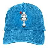 LouisBerry Danse-Clown avec Ballon Rouge Réglable de Haute qualité Snapback Cap Demin Casquette de Baseball Vacation Jeans Hat Unisex Cap