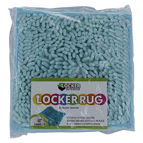 "10"" Square Locker Fur Rug Carpet (Aqua/Teal Green/Azure)"