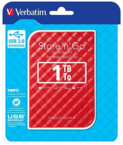 Verbatim 947967 Hard-Disk Esterno USB 3.0 da 1 TB, Rosso