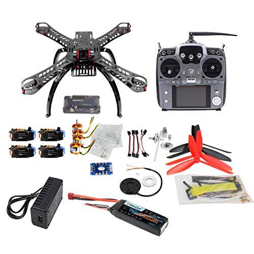 QWinOut DIY RC FPV 310mm Racing APM2.8 GPS Drone ARF Unassembly Full Combo Set : Radiolink AT10II 2.4G Radio / Glass Fiber Frame