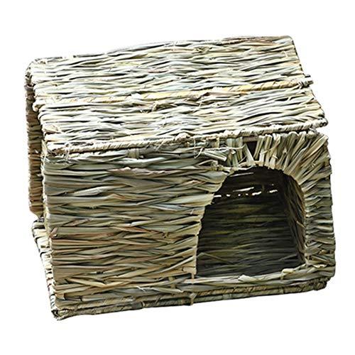 Chahu Handgemachtes Stroh-Klappnester für Kaninchen, Kleintiere, Grasnester, für das Feld oder Zuhause