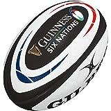 Gilbert Guinness - Ballon de Rugby 2020 - Réplique du Rugby de l'union des 6 Nations, Blanc, 5