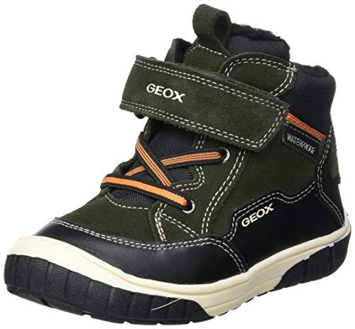 Geox Baby Jungen B OMAR Boy WPF A Ankle Boot, Green (Dk Green/Black), 22 EU