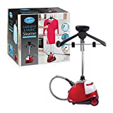 Quest 42320 Upright Garment and Fabric Steamer, 1800 Watt, Plastic, W, Red