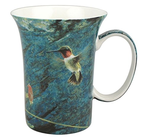McIntosh Robert Bateman Ruby-Throat and Columbine Fine Bone China (11 oz) Crest Mug in Matching Gift Box