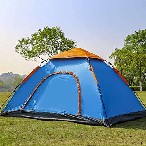 Glaceon Polyester Waterproof and Foldable 6 Person Camping Tent with Bag for Outdoor Tracking Dome (Multicolour)