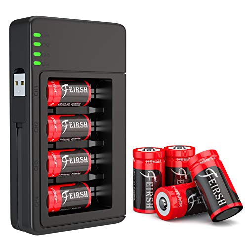 8 Pack CR123A Batteries and Charger for Arlo