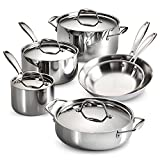 Tramontina 80116/248DS Gourmet Stainless Steel Induction-Ready Tri-Ply Clad 10-Piece Cookware Set,...