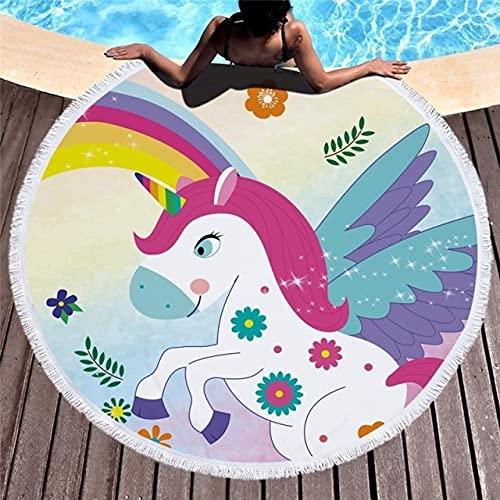 IAMZHL Toalla de Playa de Estilo de Moda Toalla de baño de natación portátil de Verano Toalla de Playa para Manta de Yoga para jardín al Aire Libre-Beach Towel 6