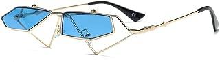 Irregular Flip Ladies Sunglasses Frame HD Lens 100% UV Protection for Women,Blue
