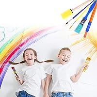 Pennelli Spugna per Pittura per Bambini Early Learning Kids Set 48 Pezzi tra Cui spugnetta, Pennello per Fiori, Grembiule Impermeabile a Manica Lunga e 26 Lettere, Giocattolo fai da te per età 3-6 #6