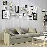 DONG Foto Wand Bilderrahmen Collage Foto Wand Foto Wand Bilderrahmen Bilderrahmen Kreative Wohnzimmer Sofa Wand Einfach (Farbe : Schwarz+Weiss)
