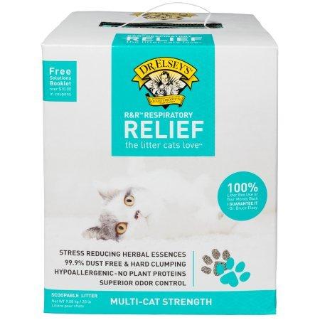 Dr. Elsey's Precious Cat Respiratory Relief Cat Litter, (20 lb, Clay)