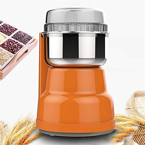 NAKELUCY 220V elektrische Kaffeemühle Gewürzmühle, 3-Gang-Steuerung, 200 ml multifunktionale sichere Kaffeebohnenmühle mit transparentem Deckel, Mehlmahlmaschine für 4-5 Personen