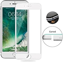 iPhone 8 Plus / 7 Plus Screen Protector Glass Full Glue Edge To Edge Screen Guard for iPhone 8 Plus / 7 Plus (White) by Nice.Store.UAE