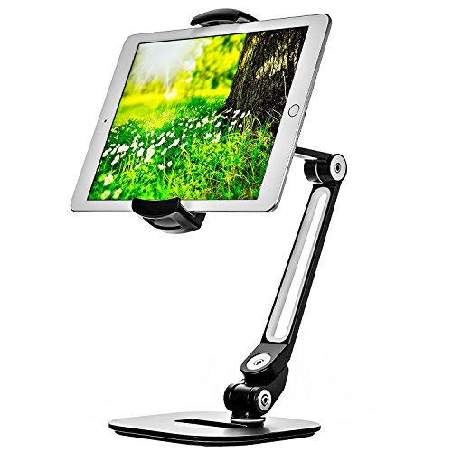 Ipad Stand - Adjustable Tablet Holder for 6 to 13 inches Tablets and Phones for The Table, Desk, Kitchen, Office - by Bontend