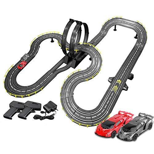 Pistas De Carreras 8m Track Racing Rail Rain Slot Racing Set Tracer Racers R/C High Speed Control Remote Control Splicing Pista Toy Chico Cumpleaños Regalos Regalos