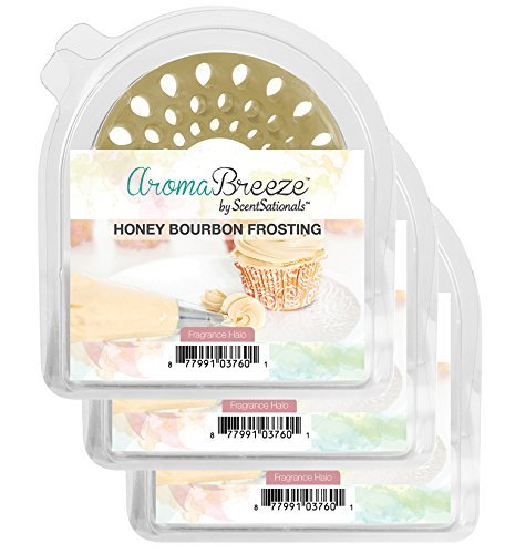 Honey Bourbon Frosting AromaBreeze Wax Free Halo Scents 3 Pack - Flameless Replacement for Scented Incense, Wax, And Candles for Your Home Fragrance Collections *CLEARANCE ITEM