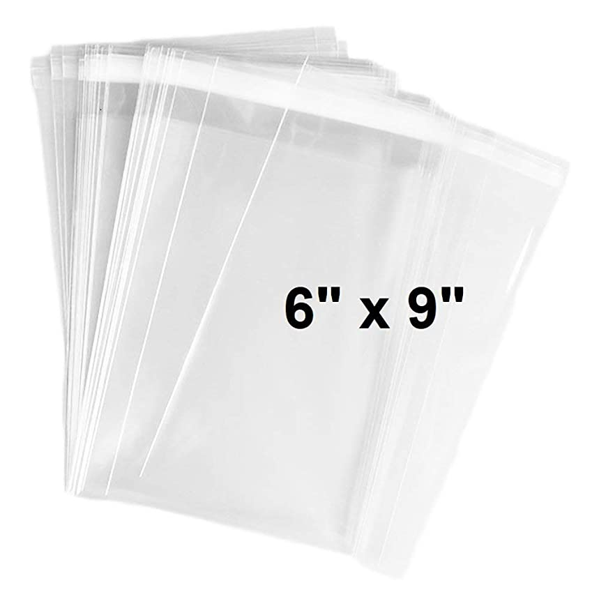 888 Display? - 200 Bags of Ultra Clear Treat, bakery, candle, soap, cookie Bags w/Adhesive Seal (6