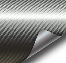 VViViD Meteorite Dark Grey True R Carbon Fiber Vinyl Wrap Roll with Air Release Technology (1ft x 5ft)