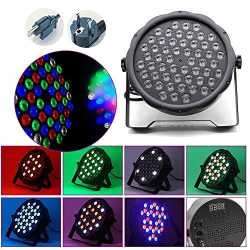PAR Licht met afstandsbediening 54 LED koplampen podiumverlichting DMX512 RGBW lichteffect partylicht met afstandsbediening