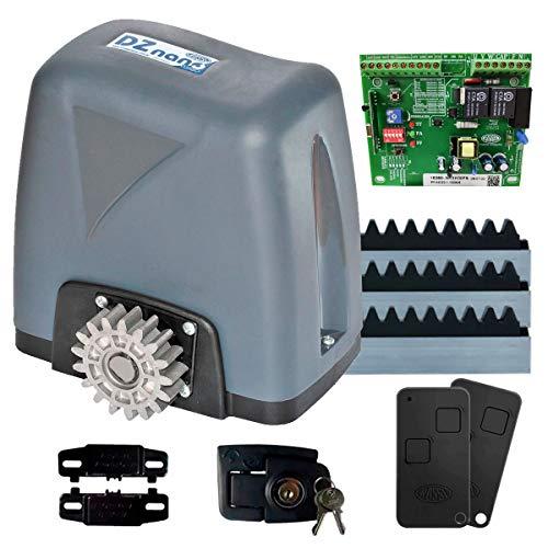 Motor Para Portão Eletrônico Dz Nano 36 Turbo 600kg 1/4 HP Rossi 3 Metros de Cremalheira (220)