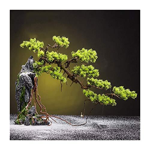 Lsqdwy Árboles Artificiales Árboles Artificiales Bonsai Plantas de imitación en macetas Plantas de casa Escritorio Decoración Zen Planta Verde Artificial para el hogar Cocina Oficina Estantería Jar