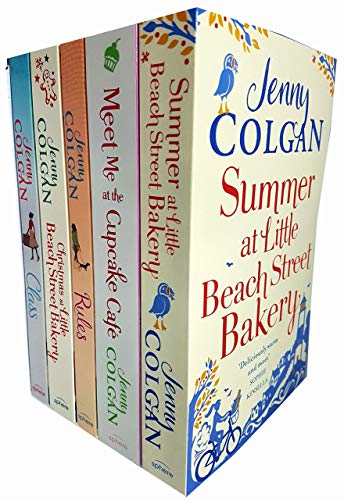 Jenny colgan 5 books collection set (christmas,summer at little beach street bakery,meet me at the cupcake café,rules,class)