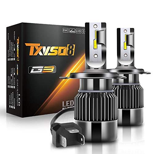 ZIHAOE H4 Auto Kit Xenon 10000LM Ersatz-Kit für Halogen-Xenon, 100W, 6000K Weiß, 50W/Birne, 2pcs/Set