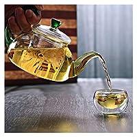 ケトル ティーポット耐熱ガラスティーポット茶表跡中国のカンフーティーセットポットコーヒーティーセットガラス製造オフィスフィルター (Color : 2)
