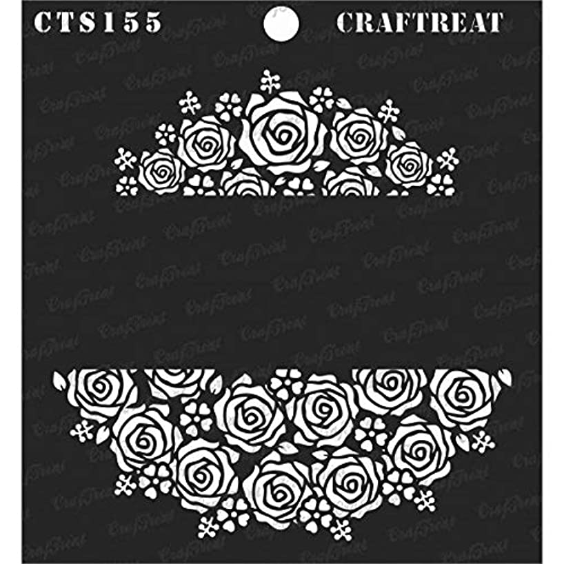 CrafTreat Stencil - Rose Garden | Reusable Painting Template for Journal, Notebook, Home Decor, Crafting, DIY Albums, Scrapbook and Printing on Paper, Floor, Wall, Tile, Fabric, Wood 6