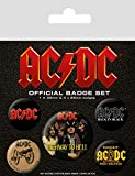 Pyramid International Logotipo AC/DC, Multicolor, 10 x 12.5 x 1.3 cm