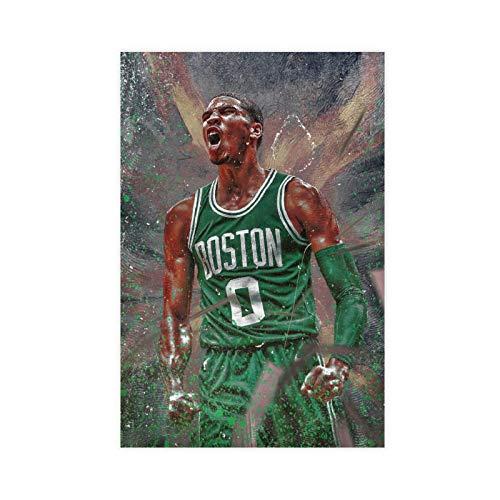 Jayson Tatum Poster Celtics Basketball Player Canvas Art Bedroom Decor Picture Prints Offices Dorm Room Decor Gift 12×18inch(30×45cm) Unframe-style1