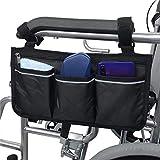 Namvo Bolsa para silla de ruedas con bolsillos – Universal Impermeable Apoyabrazos Bolsa Lateral para Silla de Ruedas Eléctrica, Scooter Movilidad, Marco de Caminar, Accesorios,
