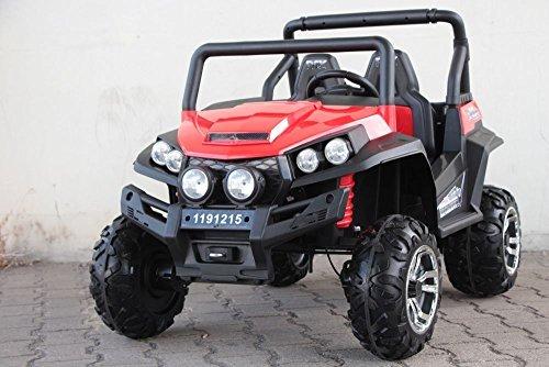 RC Auto kaufen Kinderauto Bild: OFFROAD UTV ALLRAD 4x45W 2x12V Elektroauto Kinder Elektro Auto Kinderfahrzeug Ferngesteuert Elektro (Weiss)*