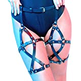 Women's Leather Garters Belt Leg Harness Body Caged Thigh Holster Harajuku Adjustable Waist Gothic Rings