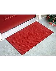 Status Dirt/Virus Trapper Door Mat - Barrier Mat Soft Effective Sanitizer/Antibacterial Mat for Bedroom OutdoorMat for Front Door Living Room Floor (15 x 23 inch) (Red)