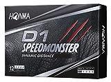 本間ゴルフ HONMA ゴルフボール D1 SPEED MONSTER スピードモンスター 1ダース 12個入 ホワイト