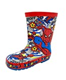 The Amazing Spiderman Action Spidey Red Boys Wellies UK 1